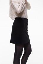 Mini-jupe en velours lisse noir