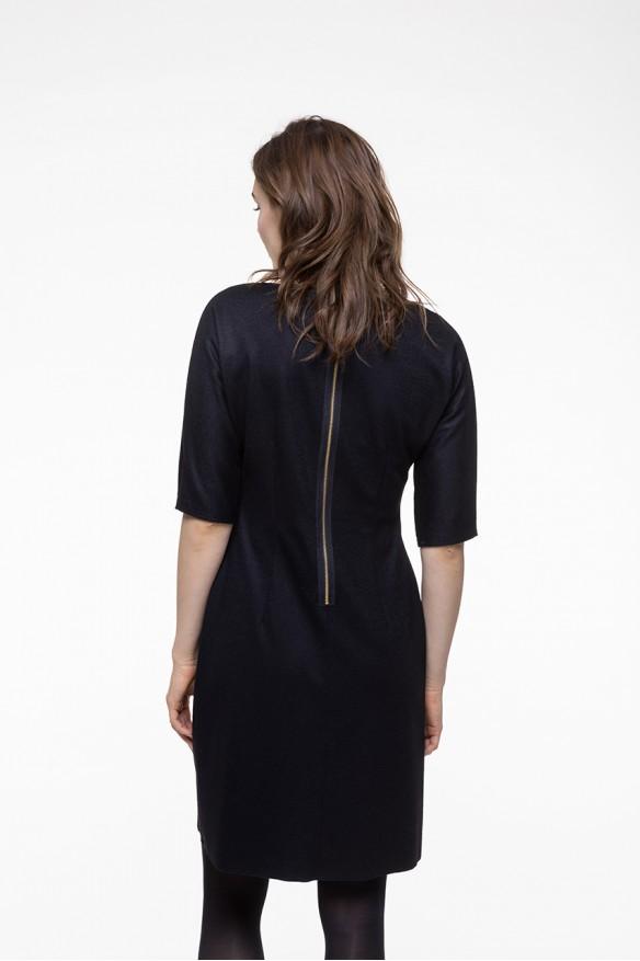 Robe ajustée en laine mélangée