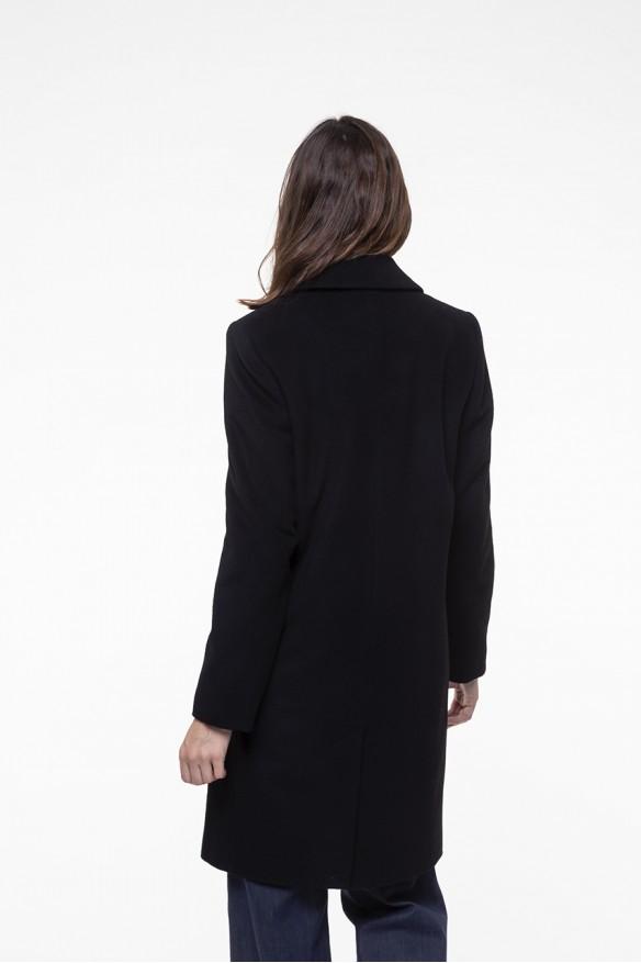 Pardessus masculin en laine cachemire noire
