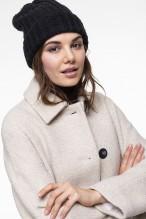 Manteau écru en mélange de laine vierge