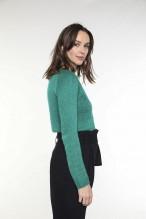 Cardigan vert en laine mélangée