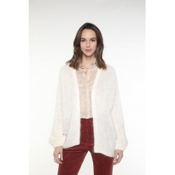 Off-white long sleeved jacket with sequins