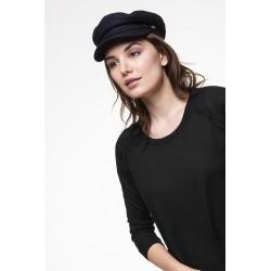 Pull en laine mérinos noir
