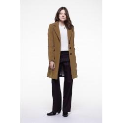 Camel cashmere woolen blended masculine overcoat