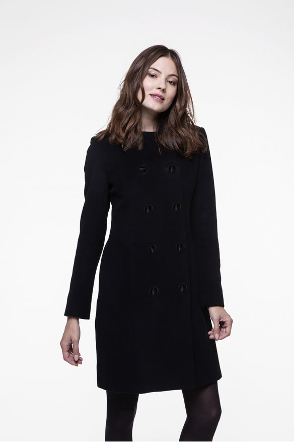 Little black cashmere wool blended coat