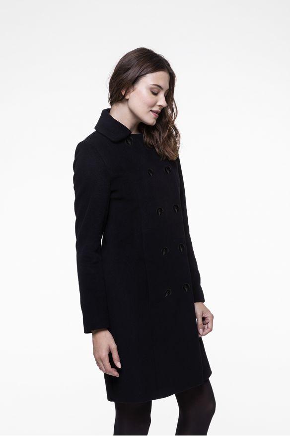 Little black cashmere wool blended coat