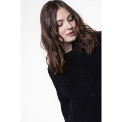 Petit manteau noir en laine cachemire