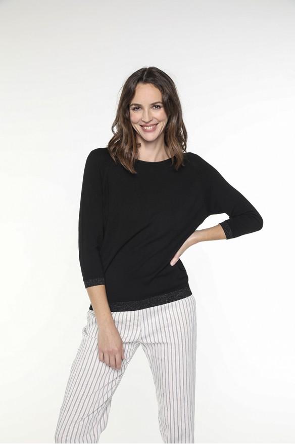 Black sweater with lurex...