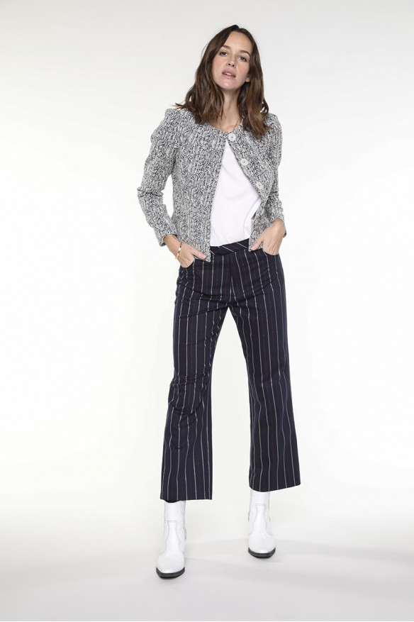 Navy blue striped pants