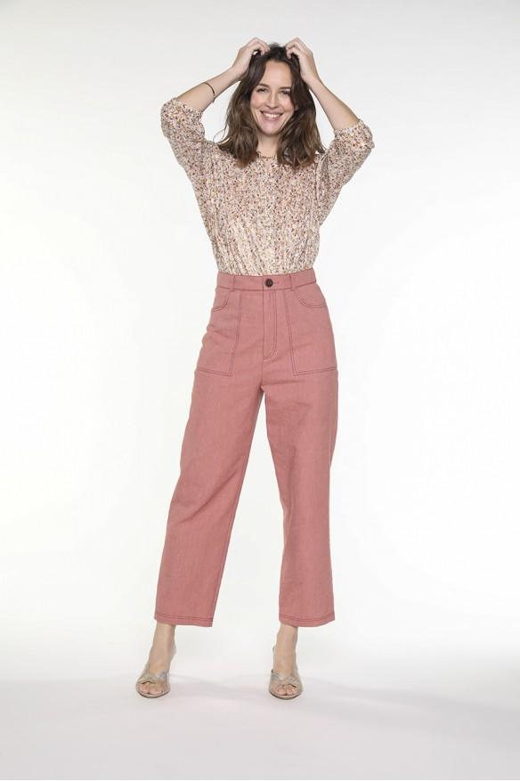 Pantalon carotte façon jean...