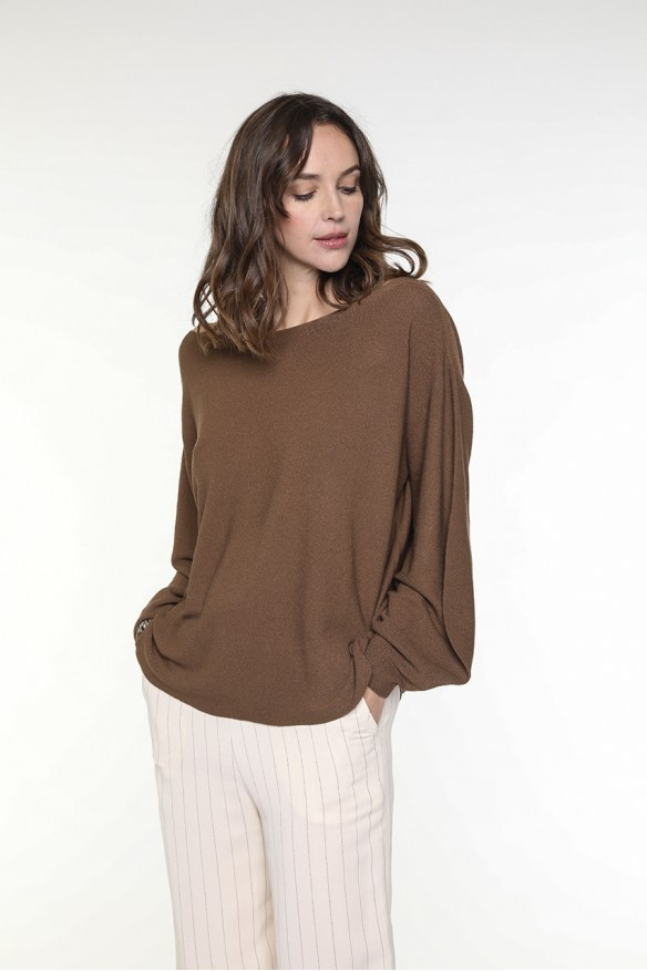 Pull couleur tabac manches...