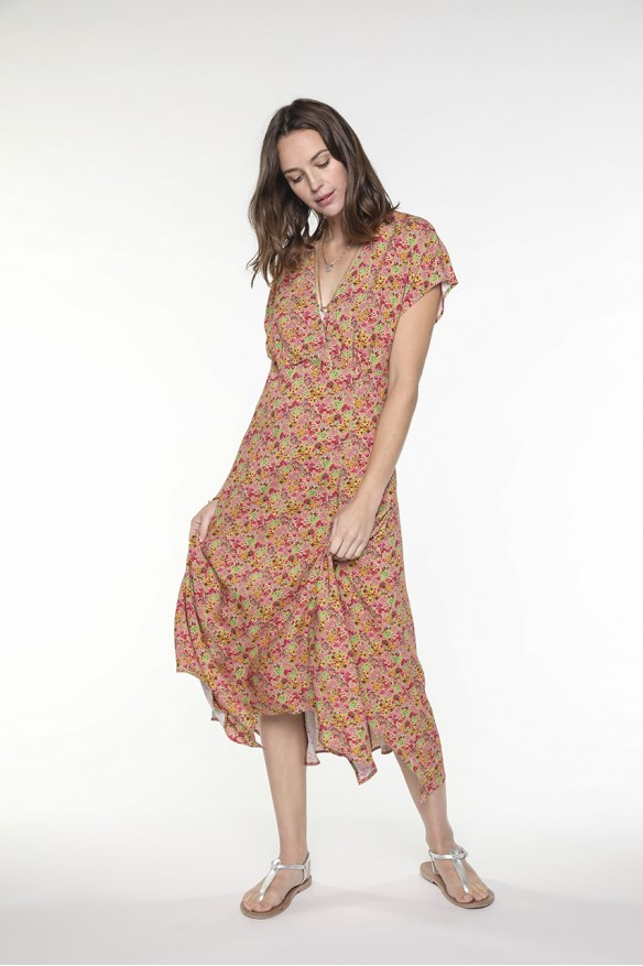 Floral printed long dress