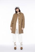 Manteau à emmanchure kimono en lainage camel