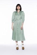 Robe chemise à l'imprimé vert amande