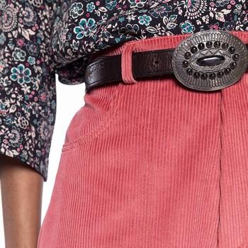 😍IT'S A CRUSH ! A PINK CRUSH 😍 On adore le duo de notre pantalon PERSE en velours côtelé rose et de notre petit haut PURE à l'imprimé floral fond noir. Le tout agrémenté d'une ceinture de votre choix et le tour est joué 👌  #perfectmatch #pinkcrush #pinkpants #rosepassion